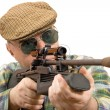 Stock Photo: Hunter, shooter sniper