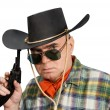Man in a cowboy hat — Stock Photo