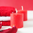 Royalty-Free Stock Photo: SPA in red.
