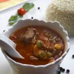 carne com legumes — Foto Stock
