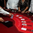 Stock Photo: Croupier Shuffle cards on casino