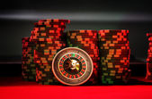 Roulette - Casino - Coins - Game — Stock Photo