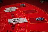 Black Jack - Casino - Card - Game - Help — Stock Photo