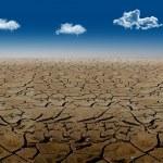 Dried soil in the desert — Stock Photo