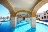 Pool under bridge — Stock Photo