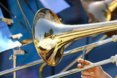 Trumpet in Orchestra — Stock Photo