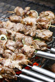 Barbecue meat on grill — Stock Photo