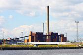Panorama de la central eléctrica de carbón — Foto de Stock