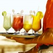 Stock Photo: Drinks on beach - Enjoy