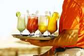 Drinks on the beach - Enjoy — Stock Photo
