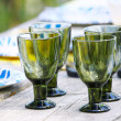 Stock Photo: Glasses on table setting