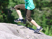 Hiking in Rocky Mountains — Stock Photo