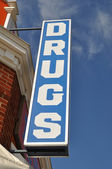Vintage Drugs Store Sign — Stock Photo