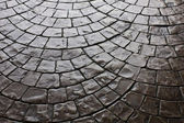 Dark Rustic Floor Paving Stone Pattern — Stock Photo