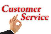 卓越的客户服务理念 — 图库照片