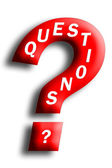 Questions Concept Embedded In A Question Mark — Stock Photo