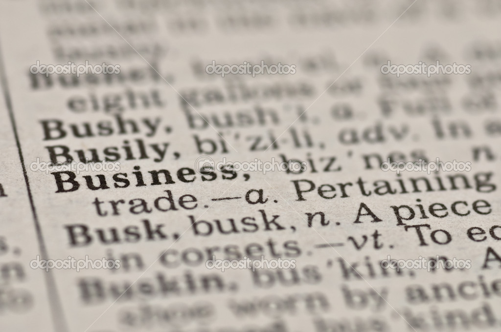 Extreme close up of the word BUSINESS found inside a dictionary — Stock Photo #4354226