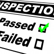 Stock Photo: Inspection Results Passed
