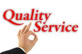 Conceito de serviço de qualidade — Foto Stock