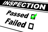 Inspection Results Passed — Stockfoto