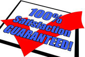 100% Satisfaction Guaranteed Concept — Stock Photo