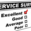 Excellent Customer Service Survey - Stock Photo