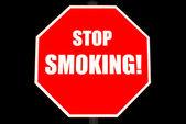 Остановить знак курить, сложенные — Стоковое фото