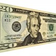 US Twenty Dollar Bill - Stock Photo