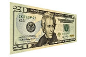 US Twenty Dollar Bill — Stock Photo