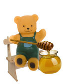 Bear eating honey — Stock Photo