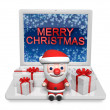 Royalty-Free Stock Photo: 3d christmas in the technology
