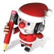 3d writing of santa claus - Stock Photo