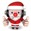 3d cheerful no.1 of santa claus - Stock Photo