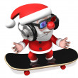 3d hip pop style santa claus — Stock Photo