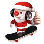 3d happy santa with no.1 — Stock Photo #4406507