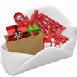 Royalty-Free Stock Photo: 3d christmas letter and gifts