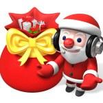 Christmas sack of 3d santa claus — Stock Photo #4406556