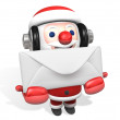 Chrismas card of 3d santa claus — Stock Photo