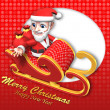 Stock Photo: 3d santon flying sleigh