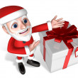 Santa's introduction for present — Stock Photo