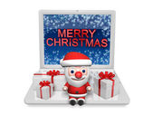 3d christmas in the technology — Stock Photo