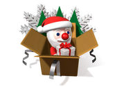 The 3d christmas pop-up box — Stock Photo
