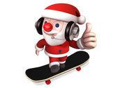 3d happy santa with no.1 — Stock Photo