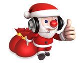 3d christmas eve of santa claus — Stock Photo