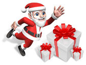 3d santa's happy gift pile — Stockfoto