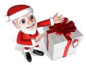 Santa's introduction for present — Stok fotoğraf