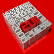 history of 3d 2011 art — Stock Photo