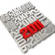 History of 3d 2011 art - Stock Photo