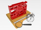 3d 2011 art's business time — Stockfoto