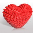 Valentine chocolate 3d art — Stock Photo